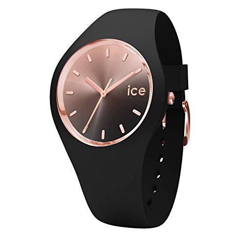 Ice-Watch - ICE sunset Black - Schwarze Damenuhr mit Silikonarmband - 015748 (Medium)
