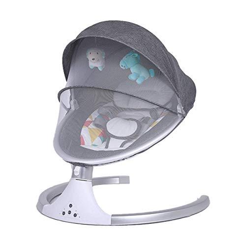 GTBF Baby Bouncer, Cama de bebé con Almohada y colchón Transpirable, Rocker de bebé eléctrico Plegable portátil para bebés recién Nacidos Desde 0-24 Meses