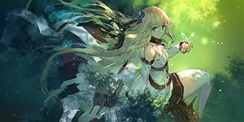 HSPHFX Mouse Pad Custom Pattern Speed Gaming Mouse Mat Anime Azur Lane Desktop Mat Profession Esports Optical Laser Mouse Extended Mega Size Mat For Anti-Slip Accurately Click Surface Non-slip Base