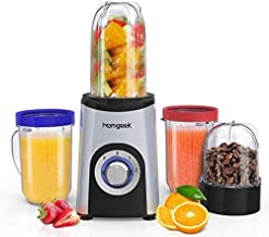 homgeek Mixer Smoothie Maker met 2 standen, mini blender met 1 x 500 ml, 2 x 400 ml en 1 x 200 ml BPA-vrije mix cup, smoot...