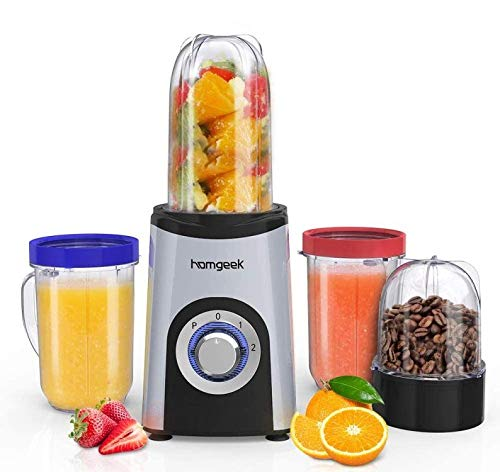Blender Smoothie, Homgeek Mini Blender,...