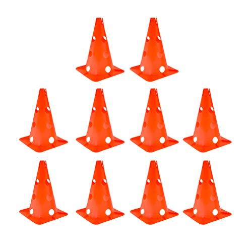 BESPORTBLE 5 stücke 30 cm Marker Cones Faltbare Schlitz Kegel Aushöhlen Zeichen Barrel Skating Flache Blume Post Logo Kegel Winddicht Fußball Hindernis (Orange)