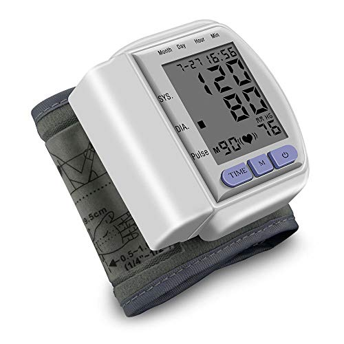 Blutdruckmessgerät Handgelenk Elektronisches Digitale Vollautomatische Professionelle Blutdruck und Pulsmessung mit Großes LCD Display, 90 Speicherkapazität