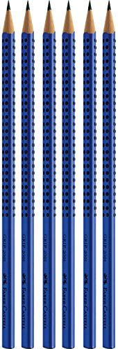 Faber-Castell 6er Sparpack Bleistifte GRIP 2001 (blau B)