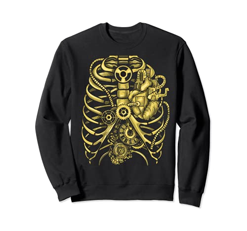 Steampunk Mechanical Chest Gears Hombres Mujeres Estudiantes Sudadera