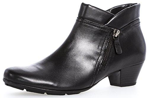 Gabor Gabor Damenschuhe 75.634.27 Damen Stiefeletten, Boots, Stiefel, mit verbreiterter Auftrittsfläche, mit Luftkammersohle, mit Reißverschluss, in Übergrößen Schwarz (schwarz), EU 3