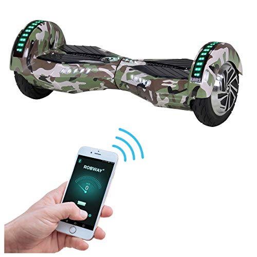 Robway W2 Hoverboard - Das Original - Samsung Marken Akku - Self Balance - 3 Farben - Bluetooth - 2 x 350 Watt Motor - 8 Zoll Reifen (Camouflage)
