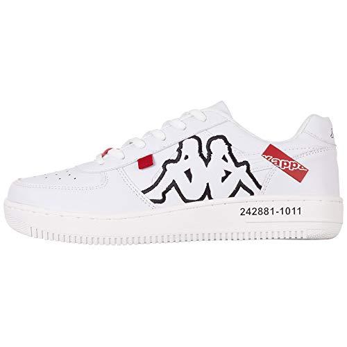 Kappa Bash Ol Sneakers voor heren, 1011, wit-zwart, 42 EU