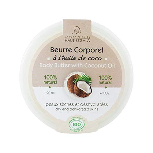 Haut-Ségala Beurre Corporel à l'Huile de Coco 120ml Bio pour Peau Sèche