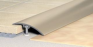 Perfil de transición, que se adapta de perfil, perfil de compensación de 40 mm - Aluminio anodizado: Colour blanco-plata - (C-01)