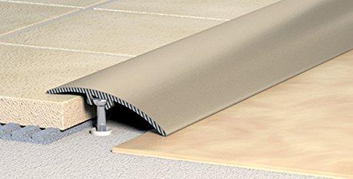 14,44€/m Übergangsprofil, Anpassungsprofil, Ausgleichsprofil 40 mm - Alu eloxiert: natur-silber (C-01)