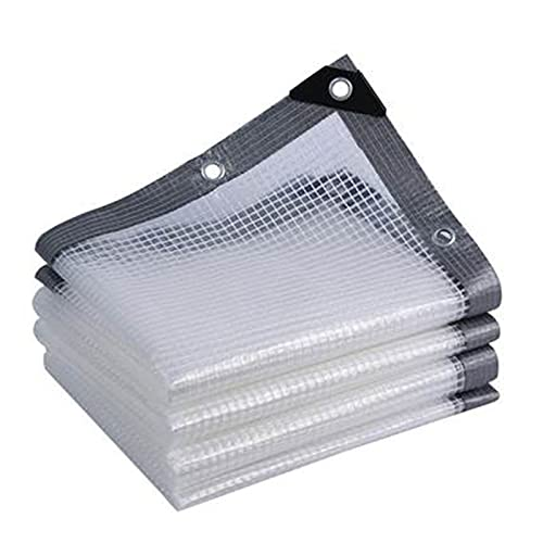 Lona Transparente Lonas Impermeables Exterior Toldos de PVC Impermeables Alta Transparencia para Invernadero, de Camping (Color : A, Size : 2x8m)