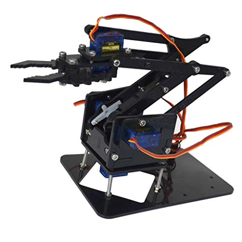 commercial Tongina 4-Dof tank robot chassis and mechanical arm, prefabricated DIY robot kit programmable robotic arms