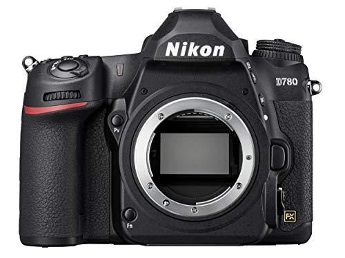 Nikon D780 Body Fotocamera Reflex Digitale, 24.5 MP, CMOS FX Pieno Formato, 2 Slot Card SD, Face Detect in AF Live View, Mirino Ottico, fino a 12 FPS, Lexar SD 64 GB [Nital Card: 4 Anni di Garanzia]