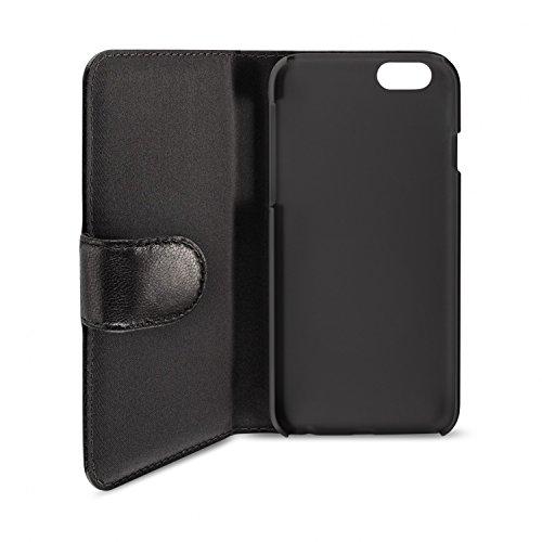 Artwizz SeeJacket Leather Handyhülle Designed für [iPhone 8 Plus / 7 Plus] - Schutzhülle zum Aufklappen aus Leder mit Magnetverschluss - Schwarz