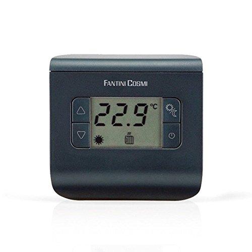 Fantini Cosmi CH112 Termostato Ambiente a Batterie, 3 temperature, Anthracite