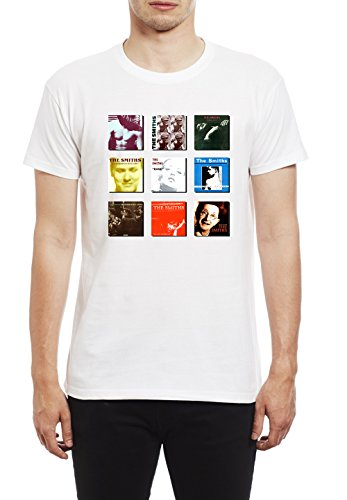 de Morrissey and The Smiths The Smiths Album Collection Camiseta para Hombre. Blanco/XL
