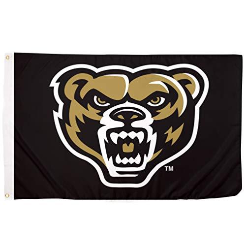 Desert Cactus Oakland University Golden Grizzlies NCAA 100% Polyester Indoor Outdoor 3 feet x 5 feet Flag