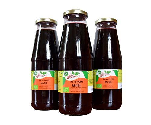 Succo di mirtilli bio 700ml, prodotto da frutta fresca, ricetta artigianale di Chef Service   OFFERTA 3 pezzi da 700 ml