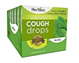 Herbion Naturals Cough Drops with Mint Flavor – 18 Ct – Oral Anesthetic - Relieves Cough - Soothes Sore Throat & Dry Mouth – Eases Bronchial Irritation - For Adults, Children 6 and above | Pack of 6 |