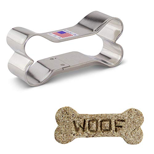 Ausstechformen mit Hundeknochen, stahl, silber, Standard (3.25