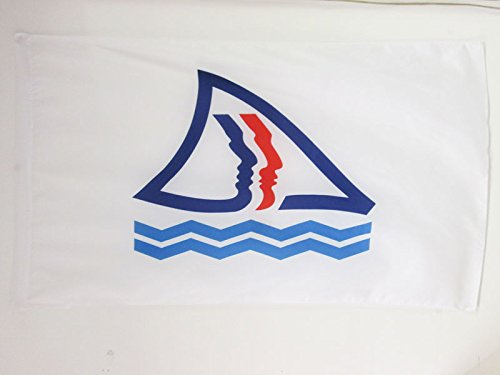 AZ FLAG Drapeau Nouvelle-Calédonie Province Sud 150x90cm - Drapeau néo-calédonien 90 x 150 cm Fourreau pour hampe