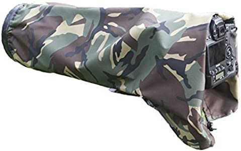 Rainsleeve cover for camera lenses  Medium size army pattern material...