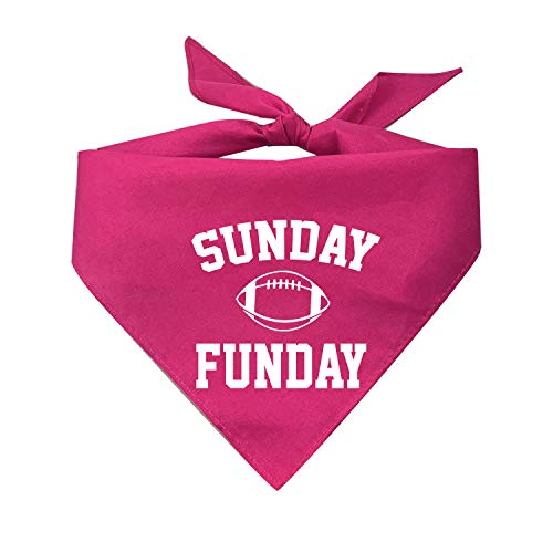 My Dog Bandana Sunday Funday Hunde-Halstuch, Bedruckt, One Size Fits Most, hot pink