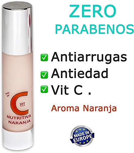 Vitamin C Cream 50ml ZERO PARABENS. Anti-Aging Anti-Wrinkle. Vitamin Vial Gift.