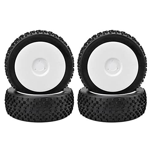 Ymxcwer85851 1/8 neumáticos Todoterreno Buggy para Coche para Redcat Team Losi VRX HPI Kyosho (Blanco) A8012