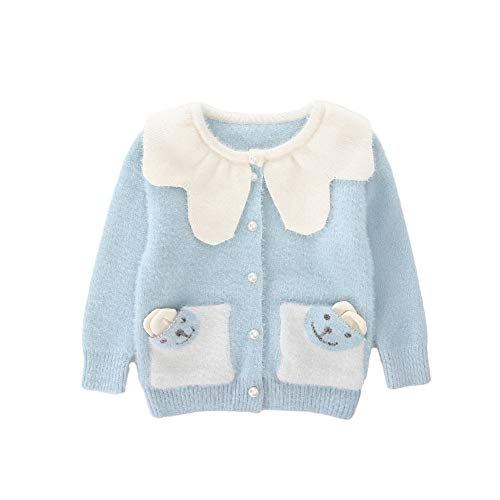 Sizes for Baby Girls 1-5 Years. Soft knit fabric for warm and cozy fit, crew neckline ,ribbed hem, button front design. Perfect wear on top of the holiday dress. Suitable outter wear in Spring and Autumn for any occasion. Hand wash or machine wash,su...