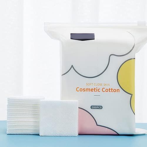 Athemeet Toallitas limpiadoras faciales Suaves, toallitas secas Desechables Toallitas limpiadoras Suaves para Almohadillas desmaquilladoras Toallitas 200PCS