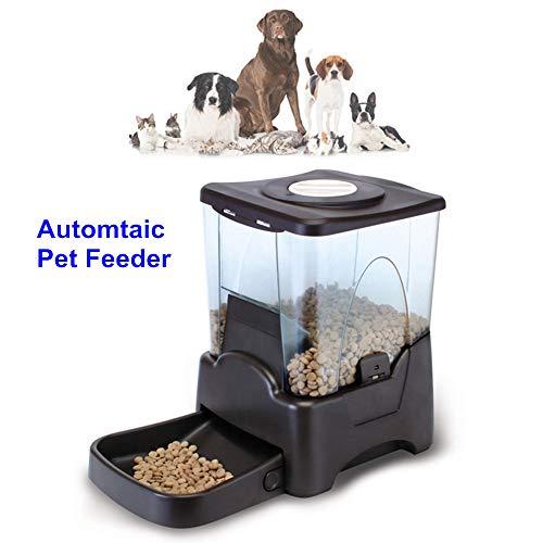 ZISITA Voedingdispenser voor huisdieren, automatische voederdispenser voor honden en katten, programmeerbare timer, opname, stroomvoorziening via batterij en stekker
