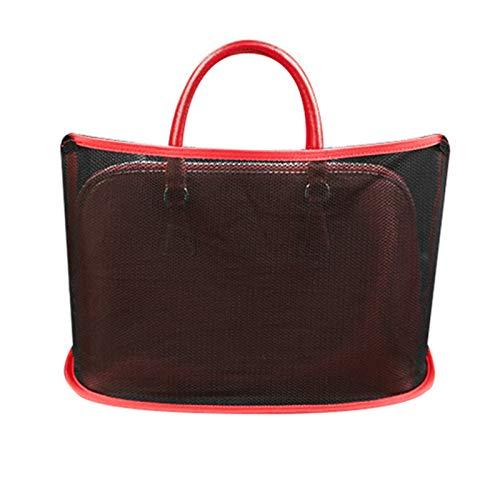 Ablita Auto-Netztasche Handtaschen-Halter für Handtasche, Tasche, Dokumente, Telefon, Wertgegenstände, Aufbewahrung für Auto und LKW