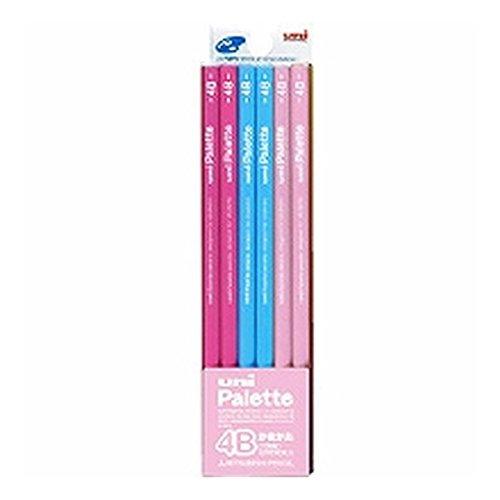 三菱鉛筆 かきかた鉛筆 ユニパレット 4B パステルピンク 1ダース K55614B 『 3 セット 』