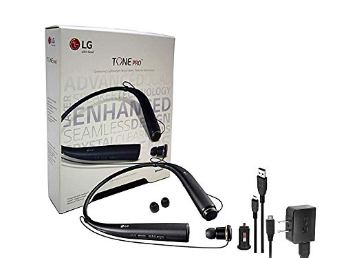 LG Tone 780 Black - Bluetooth Wireless Stereo Headset with Car Charger, Ear