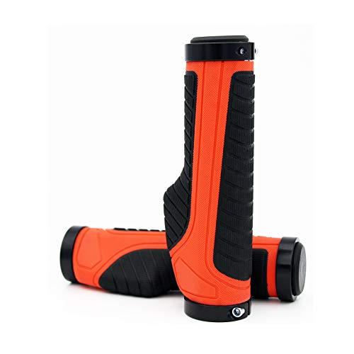 MTB Grip, Ergonomic Bike Handlebar Grips, Alloy Dual Lock-on Bicycle Grip fit BMX,Downhill,Folding,Mountain Bike