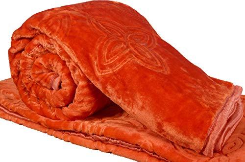 Goyal's Mink 88' X 88' Blanket, Rust, 1 Piece