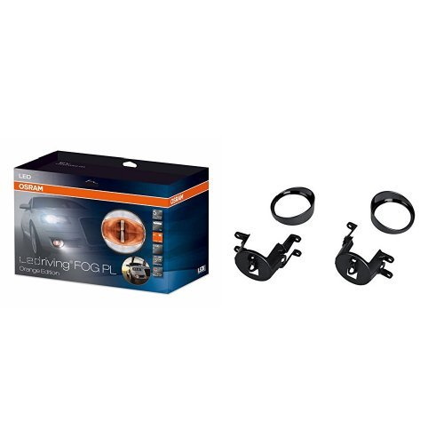 OSRAM LEDriving FOG PL Nebelscheinwerfer/Tagfahrlicht in Orange mit Zusatzbefestigung, LEDFOG103-OG, FOG103/201-TY-M, 1 Komplettset