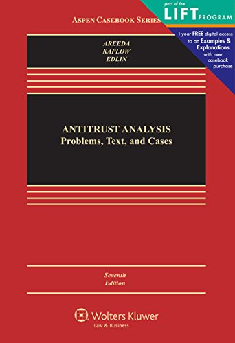 Compare Textbook Prices for Antitrust Analysis: Problems, Text, and Cases Aspen Casebook 7 Edition ISBN 9781454824992 by Phillip E. Areeda,Louis Kaplow,Aaron S. Edlin