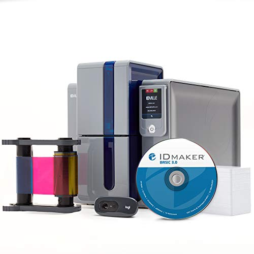 ID Maker Primacy Professional ID Card Printer - Prints Premium Quality Pictures Fast & Easy - Easiest to Use Software – 1-Sided Badge Printer Machine