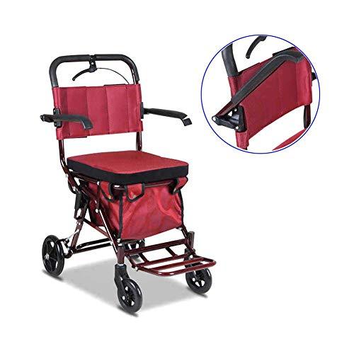Y-L Rollators 4 Wiel Vouwen met Afsluitbare Remmen en Grote Opbergtas met Seat Walking Aid