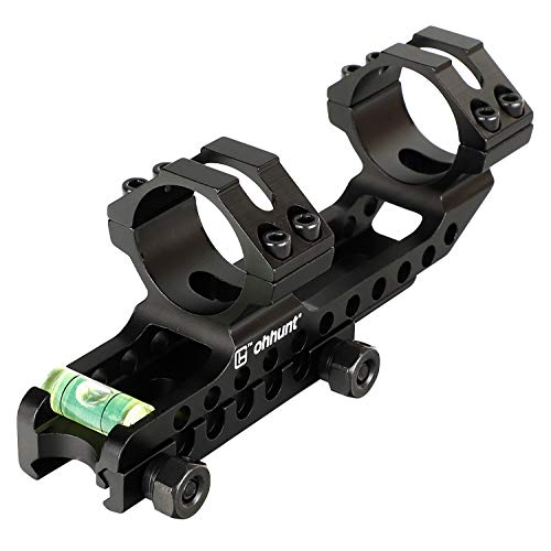 ohhunt 1 inch 30mm Scope Rings Cantilever Double Rings with Bubble Level for 20mm Weaver Picatinny Rail