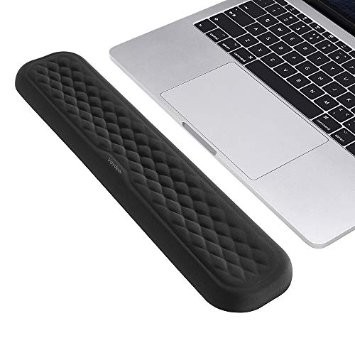 VAYDEER Keyboard Wrist Rest Pad Padded Memory Foam Hand Rest Support for Office, Computer, Laptop, Mac Typing and Wrist Pain Relief and Repair(14.17inch,Black)