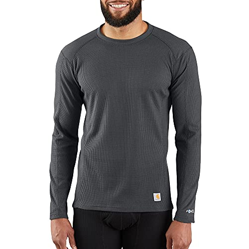 Carhartt Men's Base Force Midweight Classic Crew, Shadow, Small