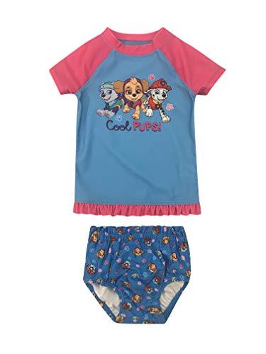 Infant Girl Paw Patrol Rash Guard Rashguard Swim Shirt and Bikini Bottom Set 6-9M
