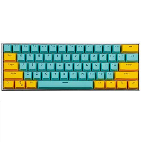 ZSTY KeyCaps, 61 KeyCaps Backlit Teclado mecánico de Tres Colores Teclado de Teclado PBT, para GH60 / RK61 / ALT62 / Magic Duck/Annie/Keyboard Poker Keys