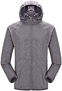 BEESCLOVER Quick-Dry Sports Clothing Men Women Hiking Jacket Light-Weight Windproof Waterproof Nylon Sports Top Suit