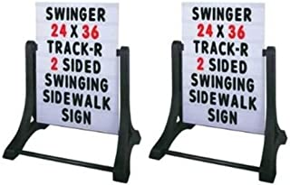 "Two (2) Standard 32""x42"" White Swinger Changeable Message Board Swinger Sidewalk Sign with Letters"