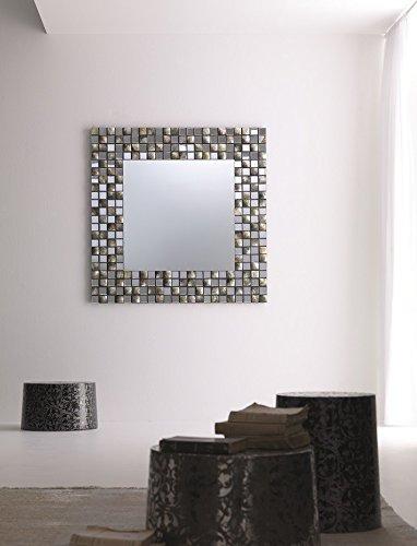 ELITE - Spiegel rond Splendor met mozaïek van parelmoer diameter 120 cm